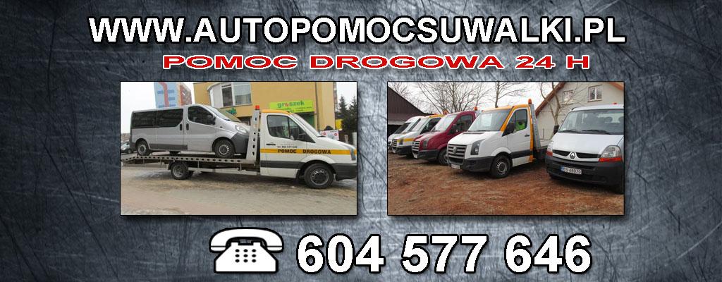 Pomoc Drogowa Suwałki 24H wynajem lawety laweta auto pomoc laweta Suwałki